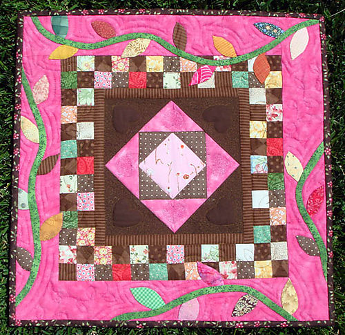 Chocolate and Cherries Quilt