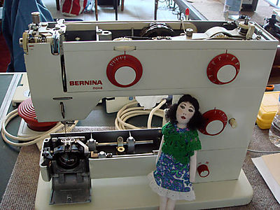 Bernina Nova open with Mia Rose travel doll